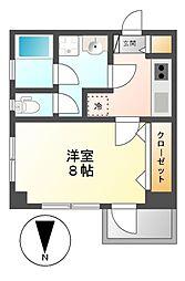 メゾン富士見[4階]の間取り