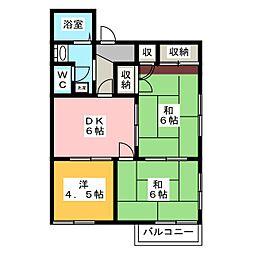 メゾンマミヤB[2階]の間取り