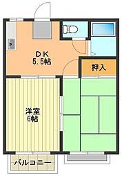 ドエル熊川[2階]の間取り