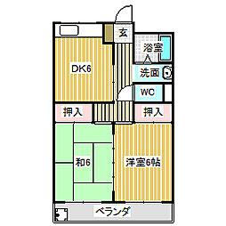 愛知県名古屋市中川区野田3丁目の賃貸マンションの間取り