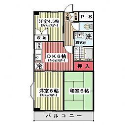 リバストーン神大寺II[101号室]の間取り