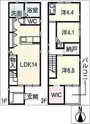 [一戸建] 愛知県名古屋市中村区長筬町4丁目 の賃貸【/】の間取り