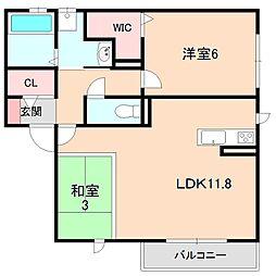ダッフィールーム[2階]の間取り
