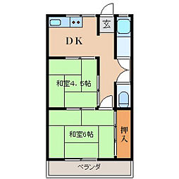 兵庫県神戸市灘区岸地通4丁目の賃貸マンションの間取り