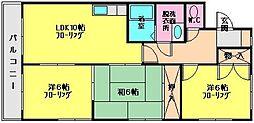 シャトレ冨永III[201号室]の間取り