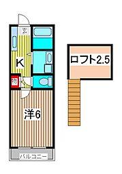 クレセントハウスI・II[1階]の間取り