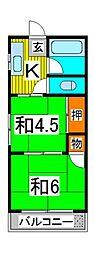 北浦和レジデンス[3階]の間取り