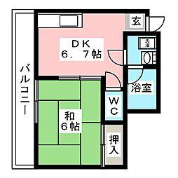 ロイヤルビル駅南銀座[4階]の間取り