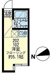 神奈川県川崎市川崎区池上新町2丁目の賃貸アパートの間取り