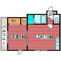 メゾンドジャパン[3階]の間取り