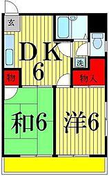 コーポ田村[502号室]の間取り