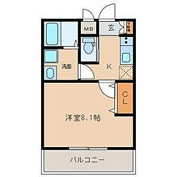 名古屋市営名城線 志賀本通駅 徒歩8分の賃貸マンション 1階1Kの間取り