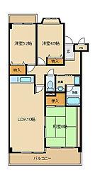 アンリハイツ[2階]の間取り