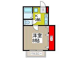 シェモア[3階]の間取り