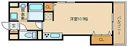大阪府八尾市跡部北の町2丁目の賃貸マンションの間取り