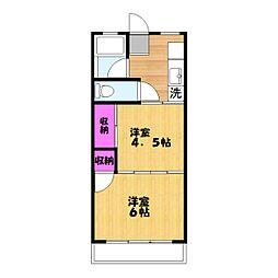 タカノマンションA[3階]の間取り