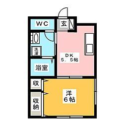 おざわハイツ[1階]の間取り