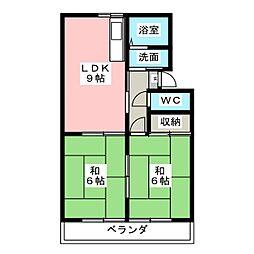 パビリオン'88[2階]の間取り