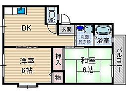 茨木サンライフ[1階]の間取り