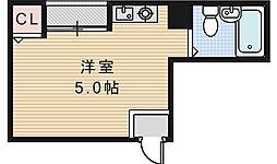 サンハイツ昭和町[402号室]の間取り