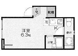 東京都杉並区井草5丁目の賃貸アパートの間取り