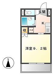 メルベーユI[5階]の間取り