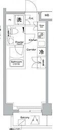 プレミアムキューブ横浜[4階]の間取り