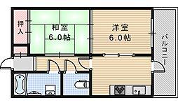田辺マンション[205号室]の間取り