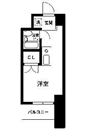 コスモヒロ南台[4階]の間取り