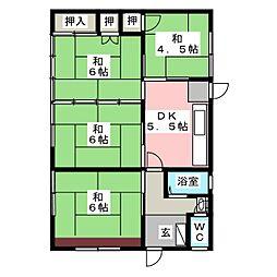 [一戸建] 岐阜県岐阜市岩田西1丁目 の賃貸【/】の間取り