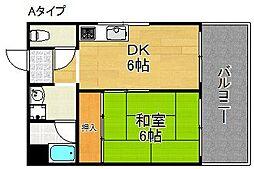 坂本マンション[4階]の間取り