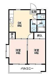 第13島田マンション[105号室]の間取り