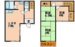 [タウンハウス] 兵庫県明石市魚住町清水 の賃貸【/】の間取り