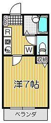 東京都目黒区原町2丁目の賃貸アパートの間取り