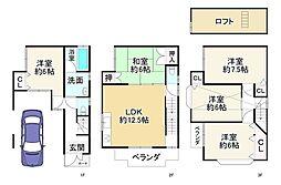京阪本線 古川橋駅 徒歩11分 5LDKの間取り