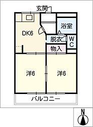 柳ヶ丘ハイツA・B棟[1階]の間取り