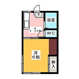 コーポ加藤 A[1階]の間取り