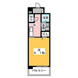 シエルオーブ[1階]の間取り