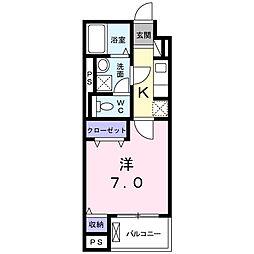 JR東海道本線 東静岡駅 徒歩6分の賃貸マンション 4階1Kの間取り