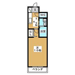 メゾン・ジョイス[4階]の間取り