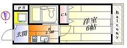 アネックス千里丘[2階]の間取り