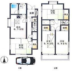 西金野井貸家[1階]の間取り