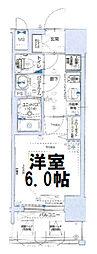 グランカリテ大阪城イースト 4階1Kの間取り