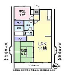 サニーヒル山手台(サニーヒルヤマテダイ)[3階]の間取り