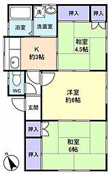 八千代台東アパート[2階]の間取り
