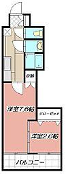 デザイナープリンセス77[206号室]の間取り