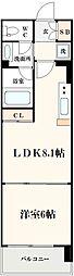 コンソラーレ土佐堀[603号室]の間取り