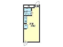 JPアパートメント守口III[4階]の間取り