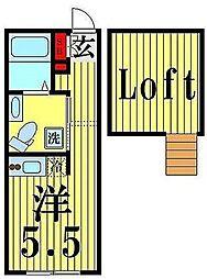 イートス恵比寿 4階ワンルームの間取り