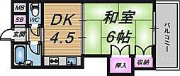 グレイスフル中崎1[6階]の間取り